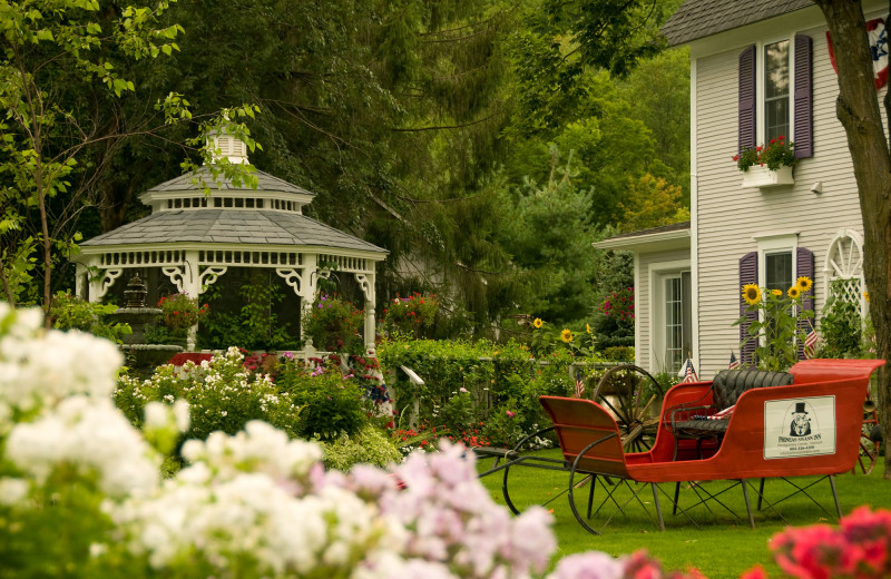 Garden at Phineas Swann Bed and Breakfast.