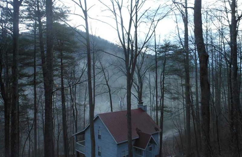 Mountain view at Cabins at Highland Falls.