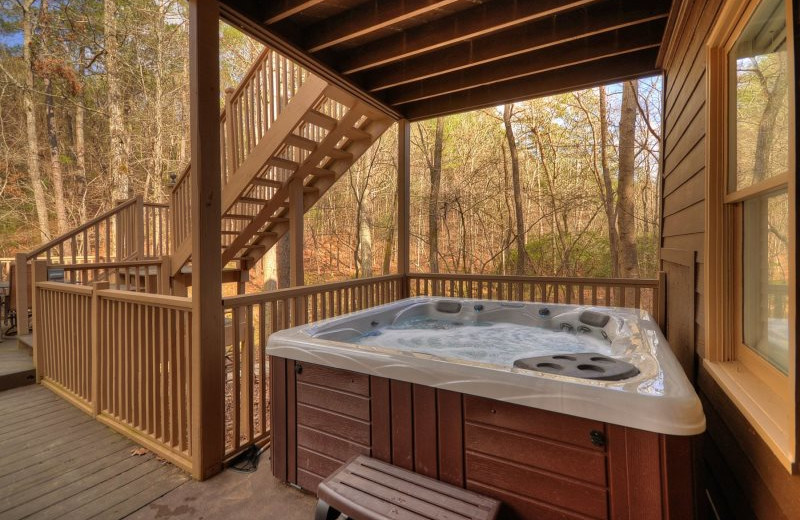 Rental hot tub at North Georgia Vacation Spots.
