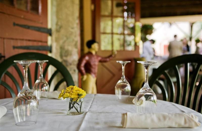 Dining at Joseph Ambler Inn.
