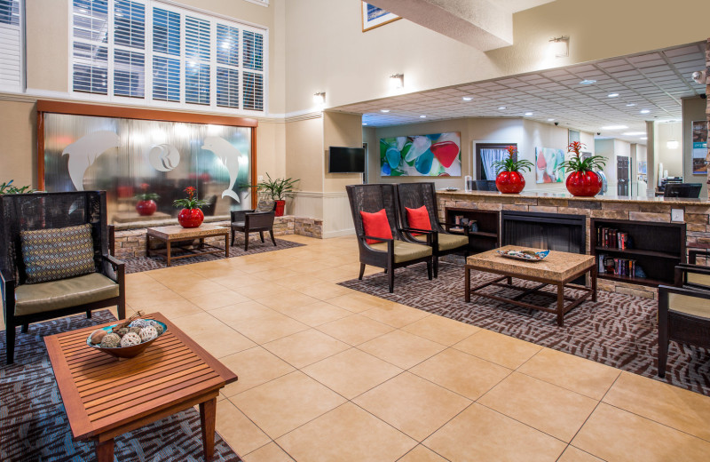 Lobby at Ramada Plaza Nags Head Oceanfront.