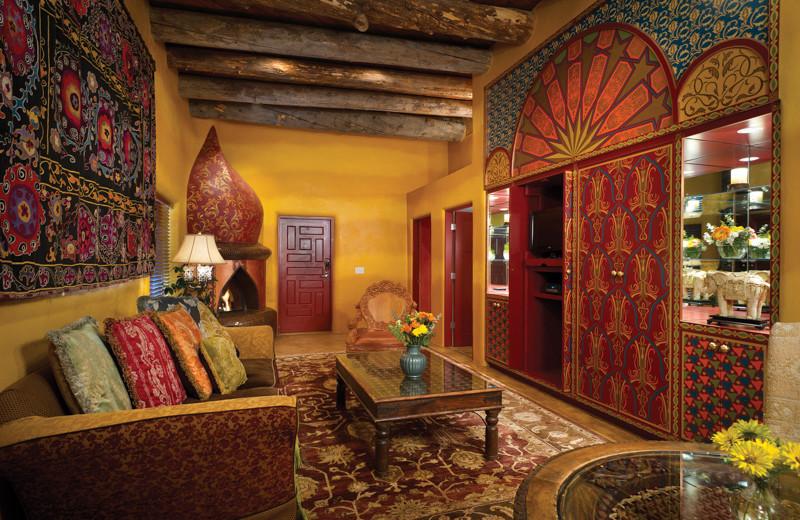 Guest living room at El Monte Sagrado.