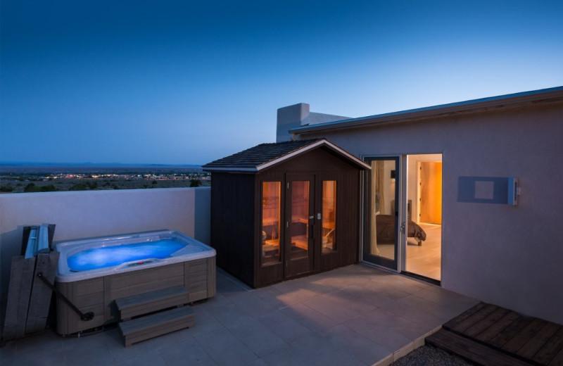 Hot tub at Adobe Zen House.