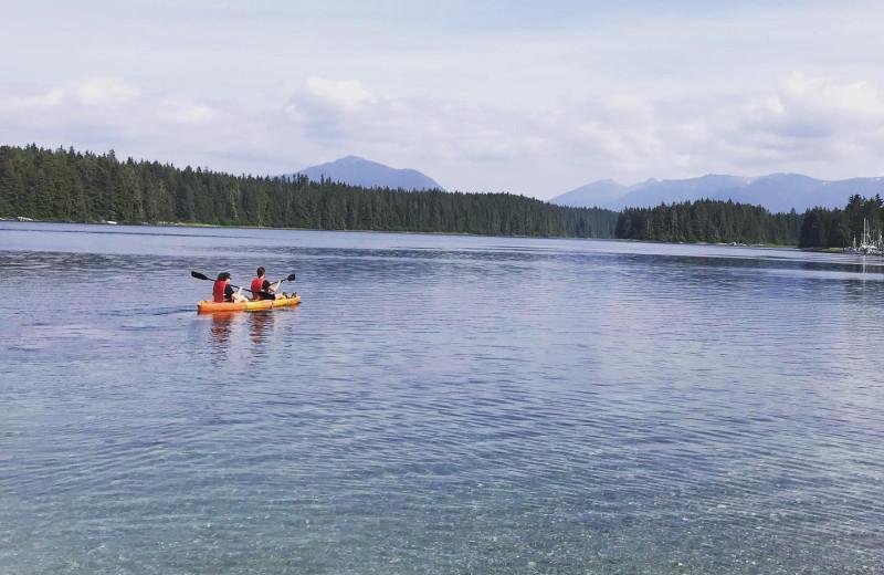 Kayaking at Favorite Bay Lodge.