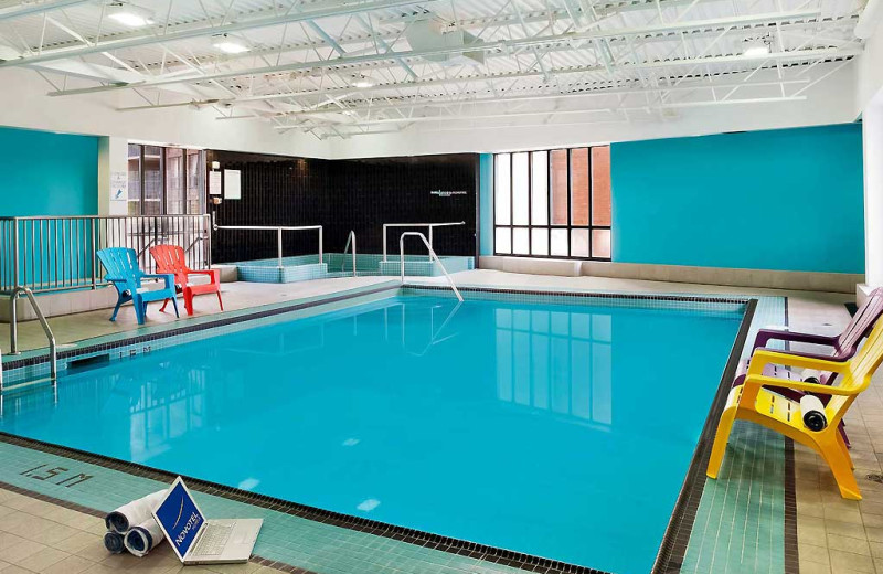 Indoor pool at Novotel Toronto Center.