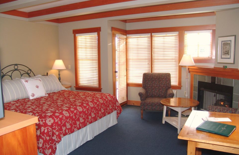 Guest room at La Conner Channel Lodge.