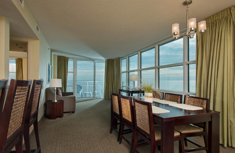 Guest room at Seaside Resort.