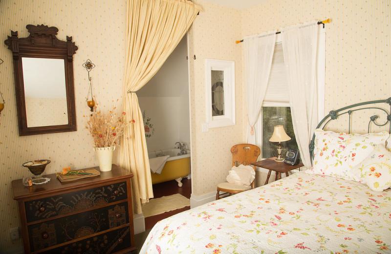 Guest room at Flower Farm Inn B & B.