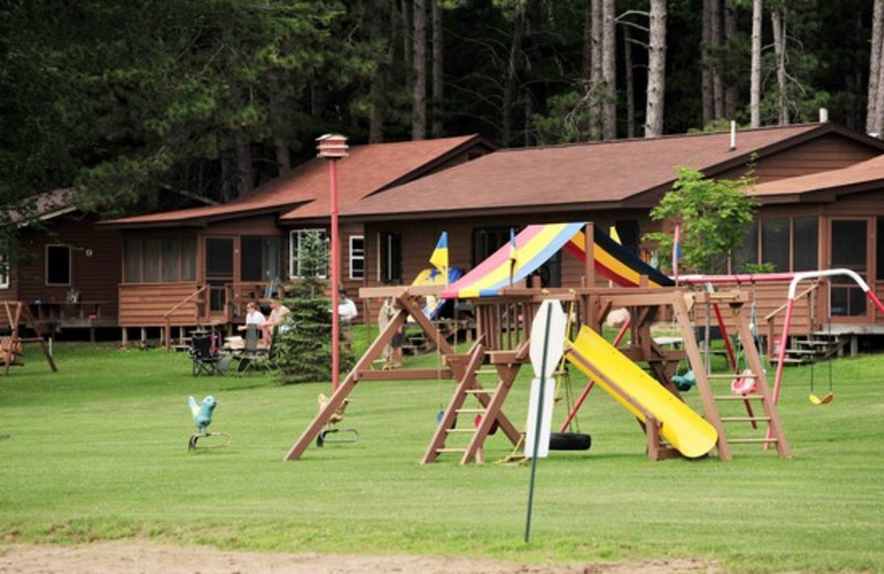 Playground equipment at Agate Lake Resort.