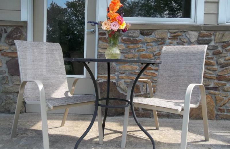 Private patio at Fairway Suites.