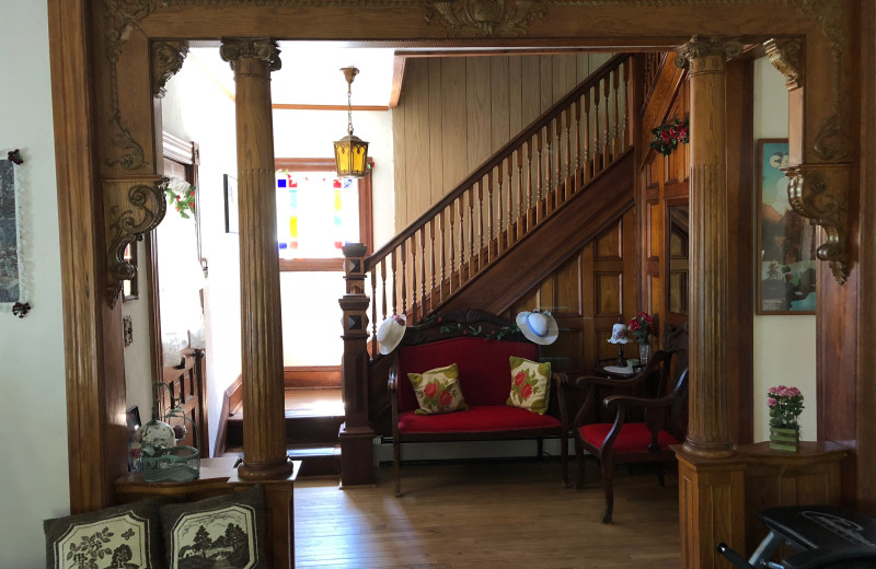Stairs at Antique Rose Inn.