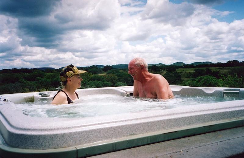 Hot tub at Paniolo Ranch.