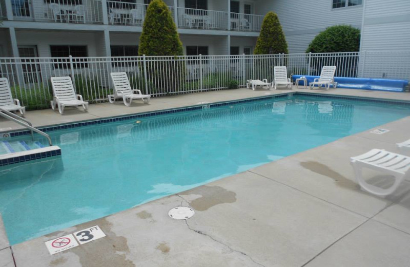 Outdoor pool at Homestead Suites.