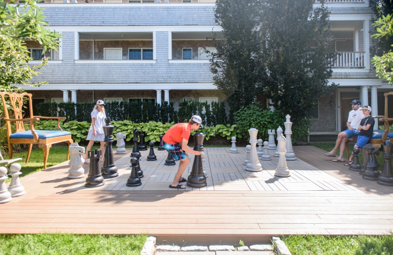 Giant chess at Winnetu Oceanside Resort.