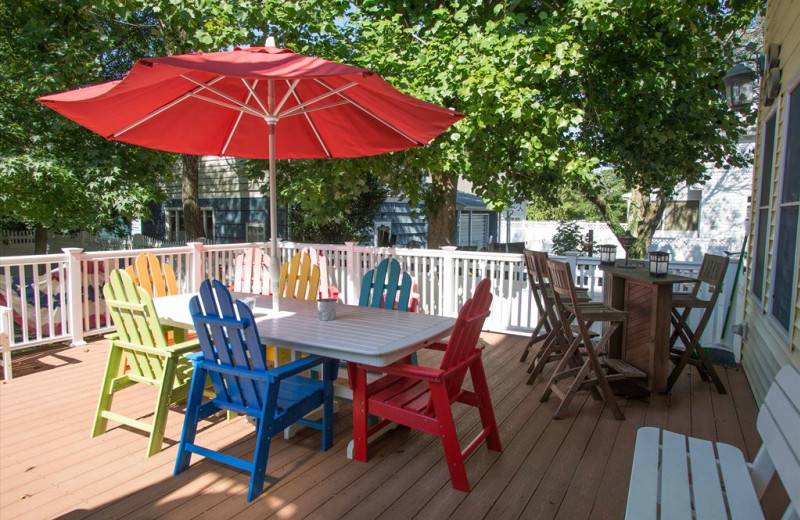 Rental patio at Jersey Cape Realty