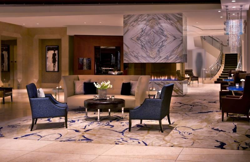 Lobby view at Conrad Chicago Hotel.