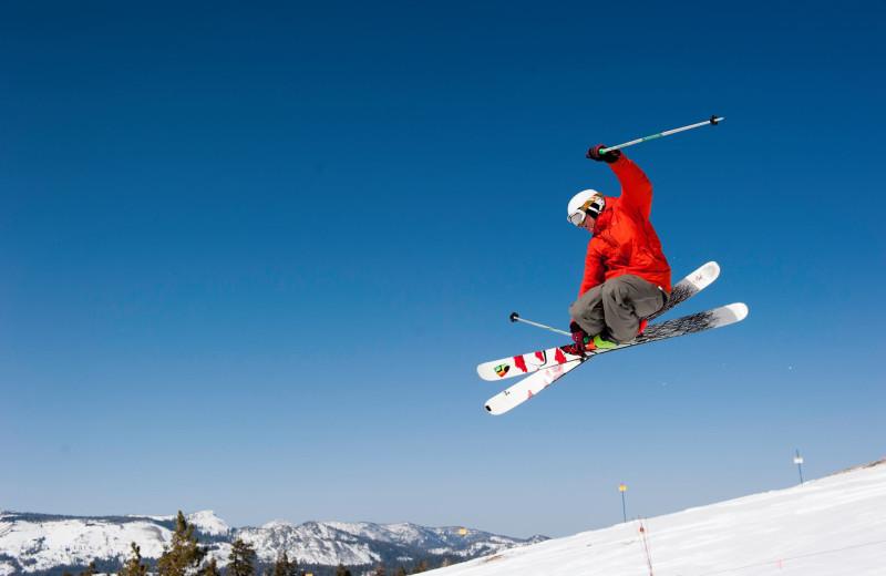 Skiing at Sugar Bowl Resort.
