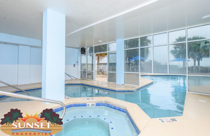 Rental indoor pool at Sunset Properties.