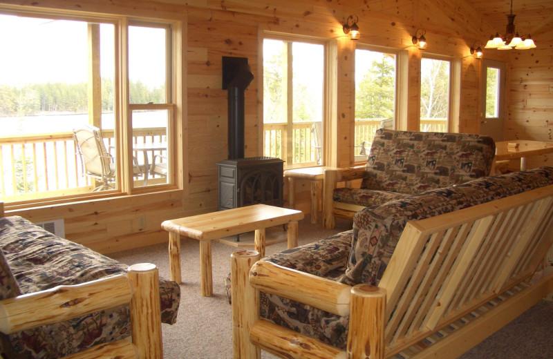 Cabin living room at La Tourell.