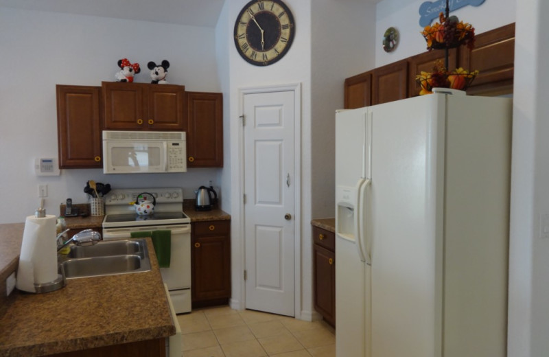 Rental kitchen at Orlando Sunshine Villas.