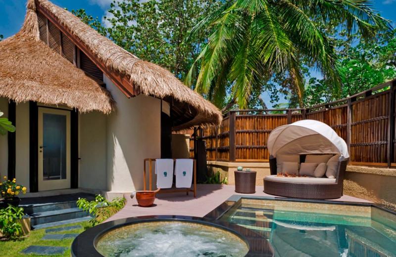 Exterior view of Banyan Tree Maldives Vabbinfaru.