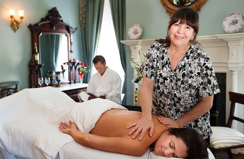 Spa services at Monmouth Plantation.