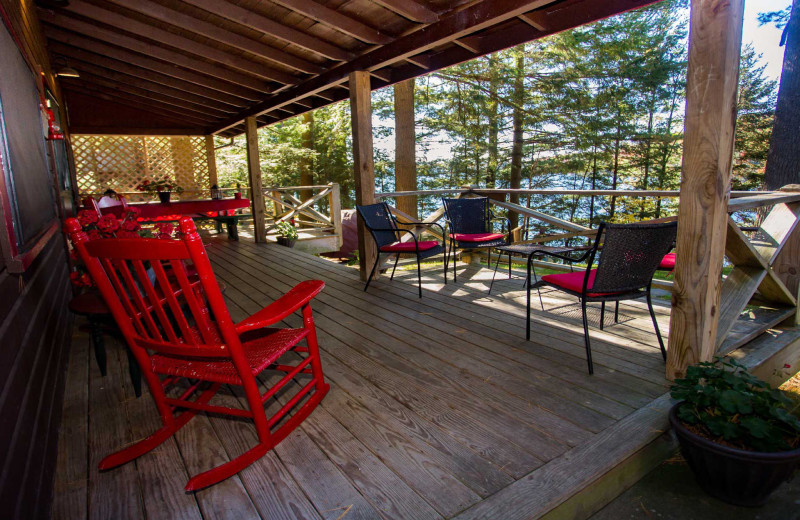 Porch at White Lake Lodges.