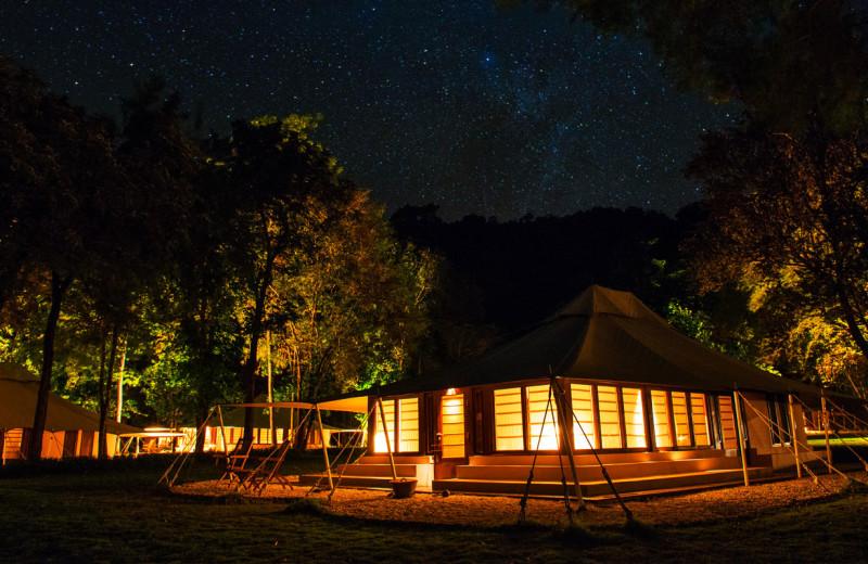 Tents at Amanwana.