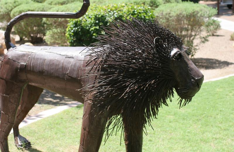 Sculpture at Canyon Ranch Tucson.