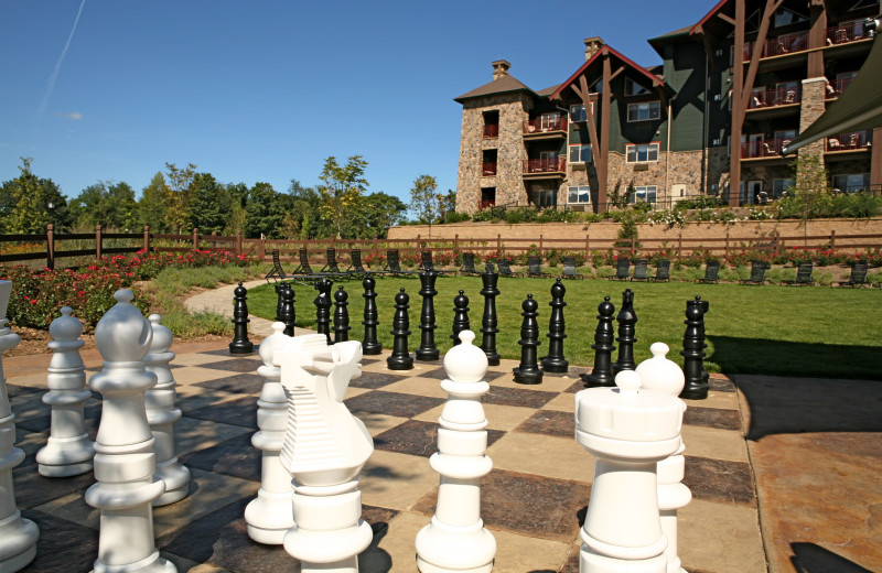 Giant chess at Crystal Springs Resort.