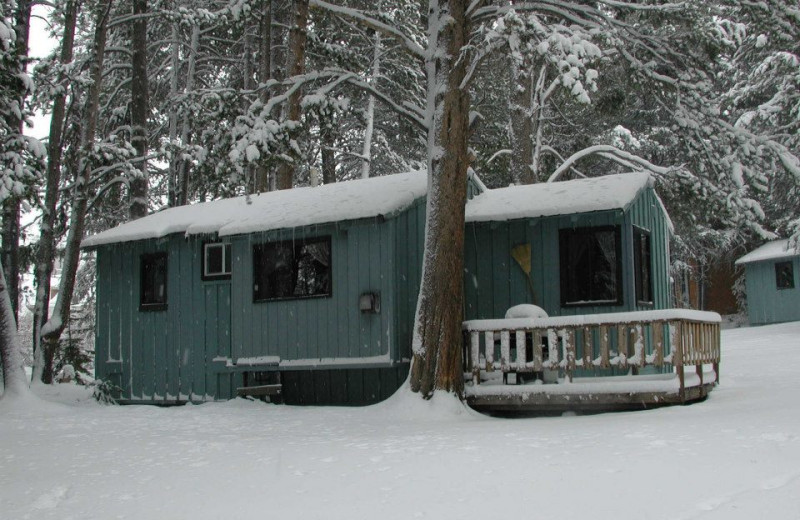 Cabin exterior at Reverse Creek Lodge.