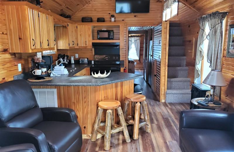 Rental kitchen at Allstar Lodging.