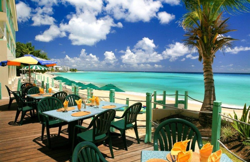 Dining at Coral Mist Beach Hotel.
