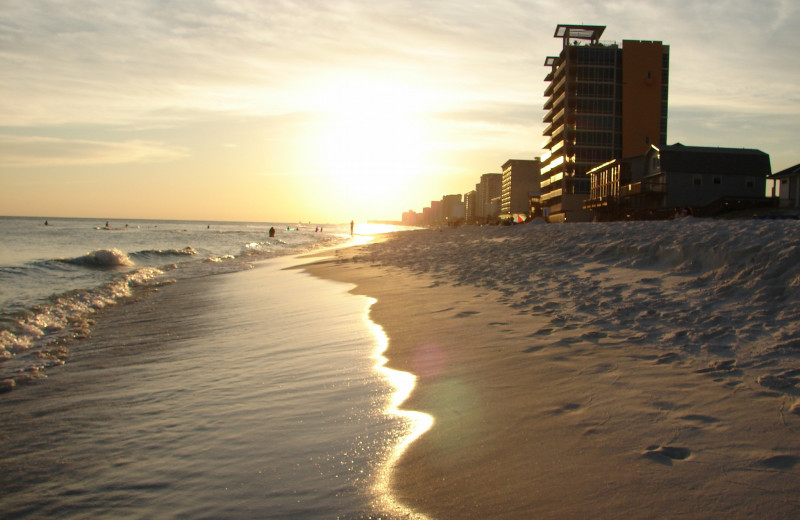 The beach at Crye-Leike Coastal Realty Vacation Rentals.
