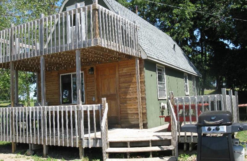 Cabin exterior at Lake Reno Resort.