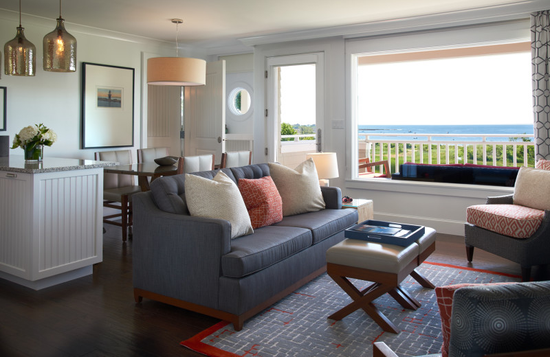 Guest living room at Inn by the Sea.