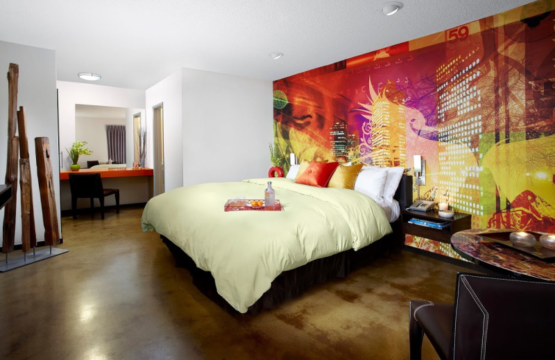 Guest room at Tangerine Hotel.