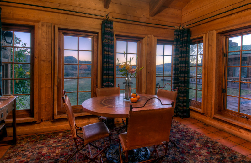 Guest dining room at The Home Ranch.