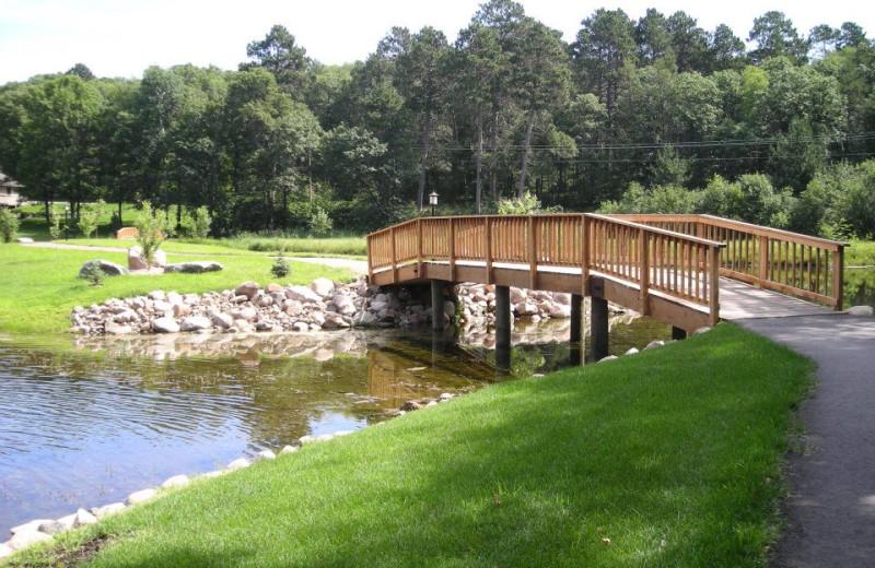 Bridge at Kavanaugh's Sylvan Lake Resort.