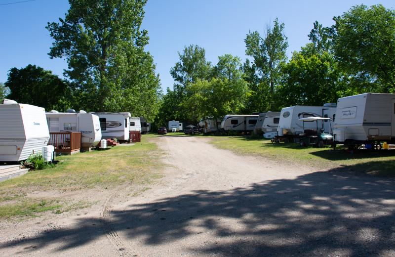RV campground at Bladow Beach Resort & Campground.