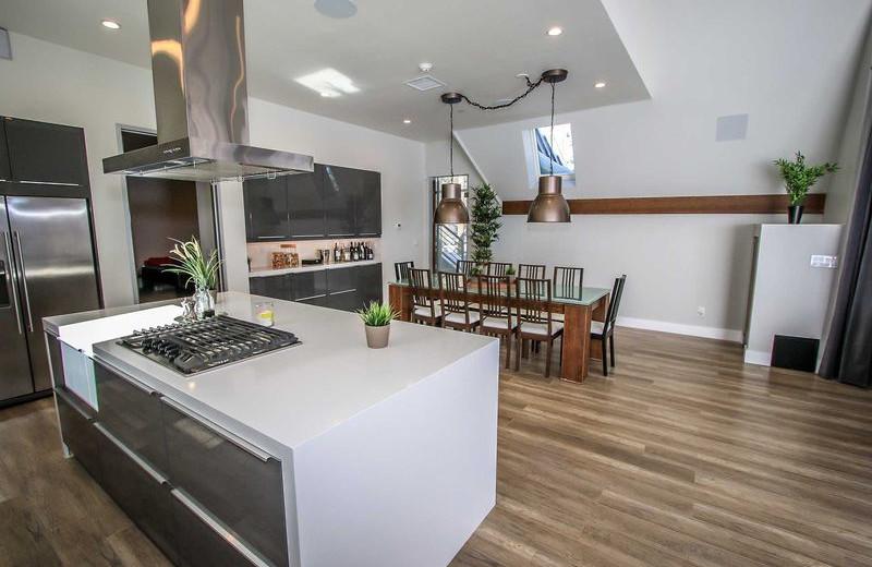 Rental kitchen at Big Bear Vacations.