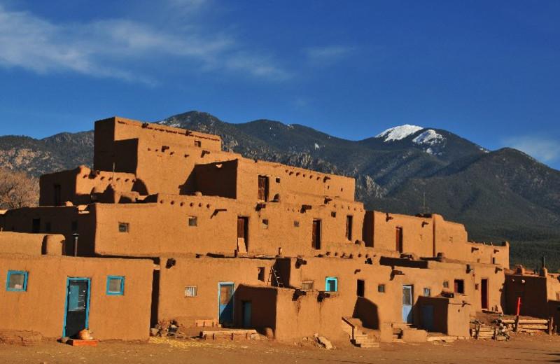 Taos Pueblos near Inn on La Loma Plaza.