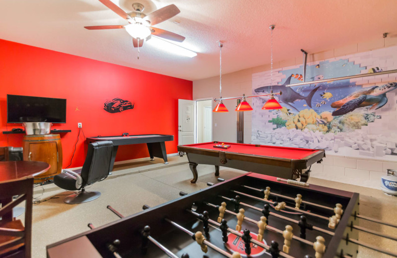 Rental game room at Contempo Vacation Homes.