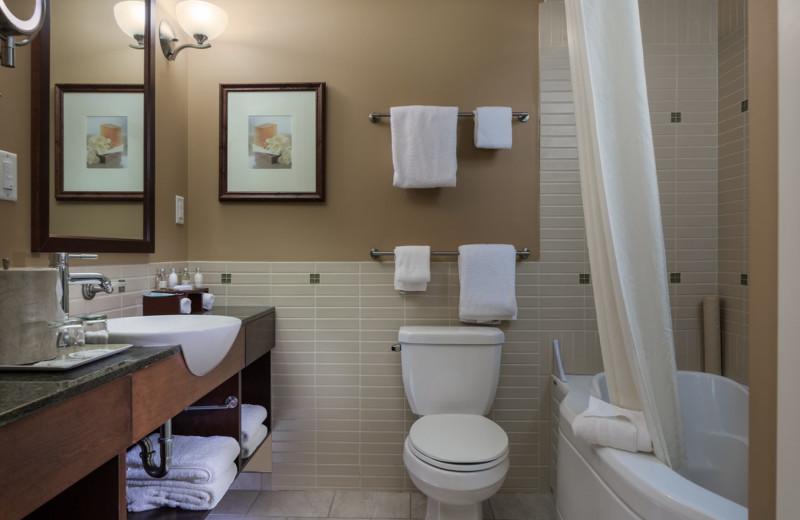 Guest bathroom at Summerland Waterfront Resort.