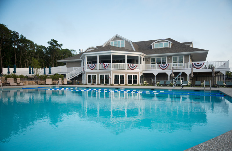 Outdoor pool at New Seabury Resort.