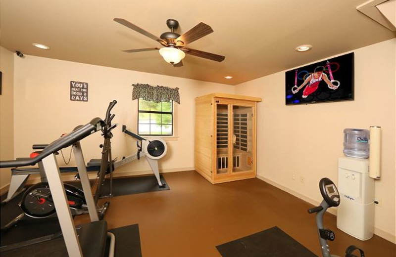 Fitness room at Smoky Mountain Resort Lodging and Conference Center.