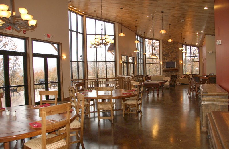 Dining area at Deer Creek Lodge.