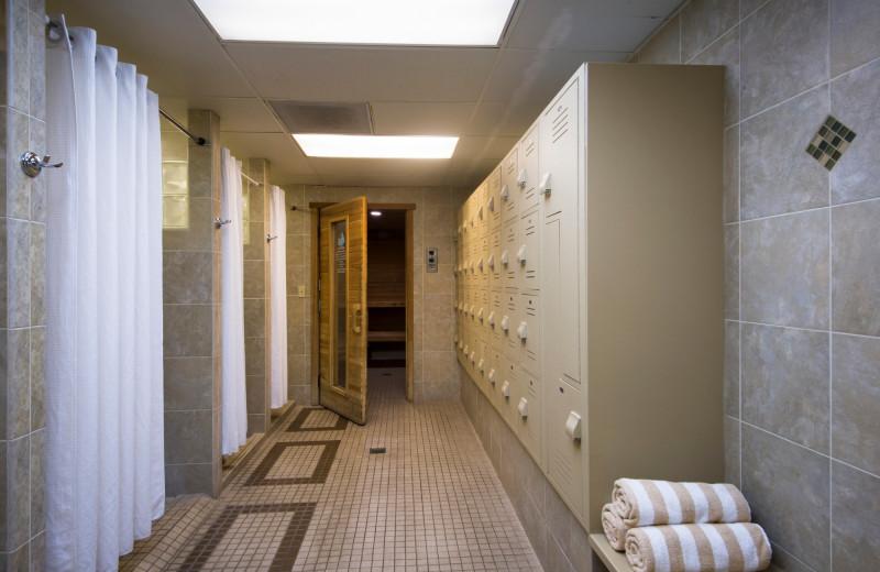 Locker room at Stoneridge Resort.