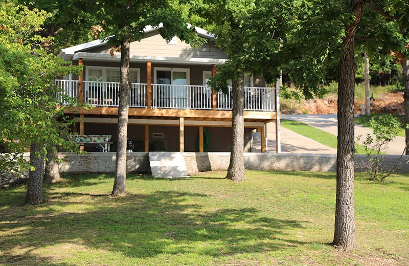 Cabin exterior at Point Randall Resort.