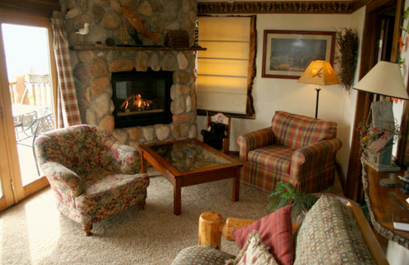 Cottage living room at The Inn on Gitche Gumee.